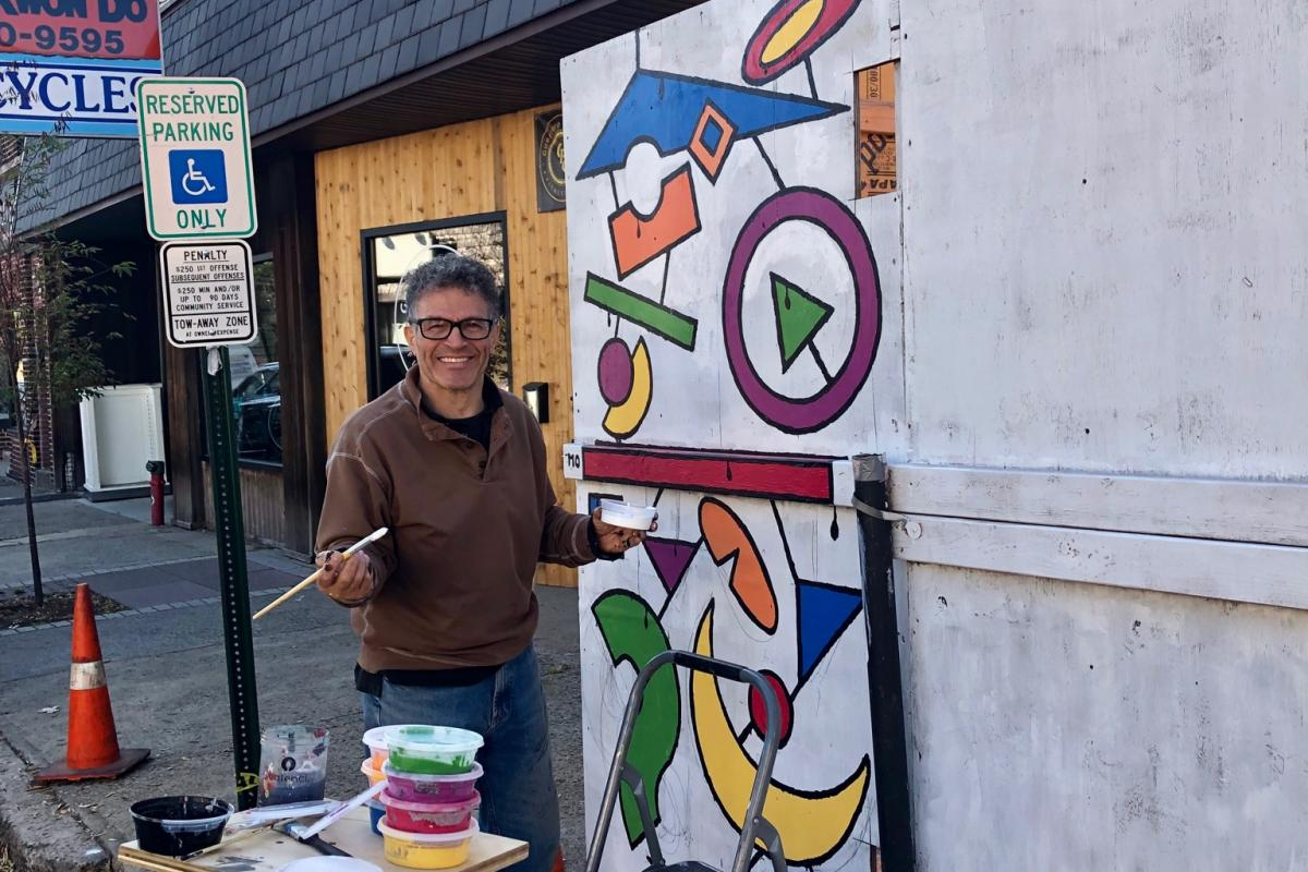 Main Street construction mural project - Summer 2019 (Ridgefield Park Arts Association)