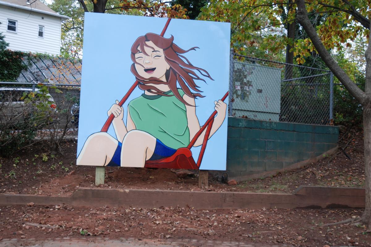 Girl on a swing - Vogt Park - November 2019