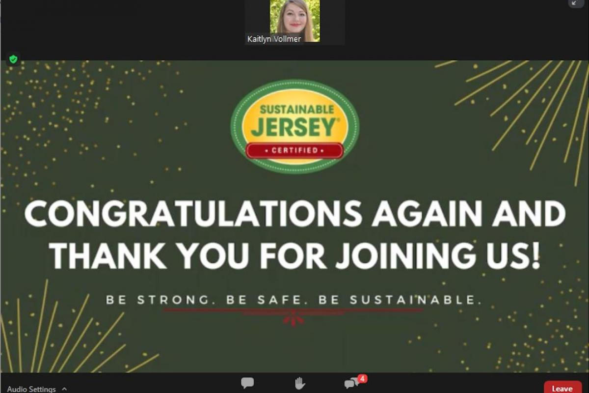 Sustainable Jersey Congratulations  Again and Thank You for Joining Us