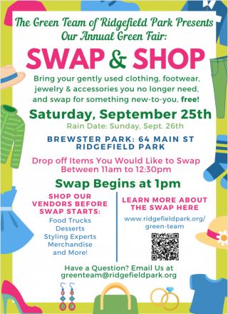 Annual Green Fair-Sat. Sept. 25-Swap & Shop